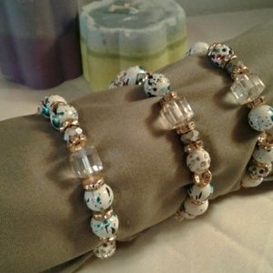 Jewelry - Beaded Stretchy Stackable Bracelet